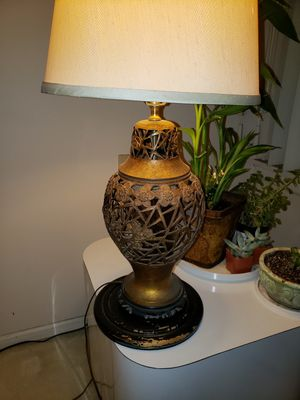 Antique Japanese Bronze Lamp Sakura (Cherry Blossom Design) for Sale in Clyde Hill, WA
