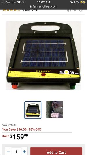 Zareba Solar 10mile fence energizer for Sale in Bethpage, TN
