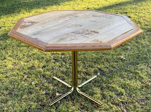Vintage Mid Century Modern MCM Octogonal Wood And Metal Dining Kitchen Table for Sale in Chapel Hill, NC