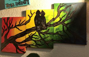"""Lovebirds"" 3 canvas painting for Sale in Sanger, CA"