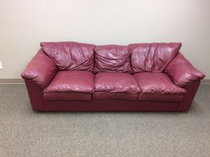 Leather couch for Sale in Dallas, TX