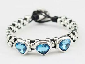 (Shipped Only) Retro Handmade Charm Crystal Bracelet for Sale in Wichita, KS