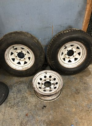 """15"""" trailer tires and wheels 6lug for Sale in Arlington, WA"""