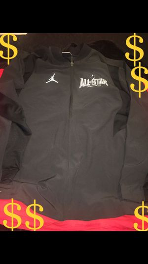 AIR JORDAN ALL-STAR 2018 EDITION JACKET (SIZE LARGE) NO LOW BALLERS!! USED ONCE!!!LIKE NEW !!!ITS A WINDBREAKER !!!!!!NOT A SWEATER OR JACKET 😁 for Sale in South Gate, CA