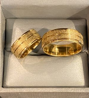 Unisex 18K Gold plated Matching Ring Set-Code RP10 for Sale in Sacramento, CA