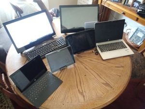 Surface pro / samsung tablet /motion r 12 computer /hp labtop 5/2 21 in computer with wireless keyboard an mouse for Sale in Detroit, MI