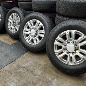 "20"" GMC Denali rims and tires Goodyear Wrangler Tires for Sale in North Tustin, CA"