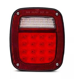 Bright Red Jeep TJ CJ YJ JK Replacement Tail Light with LED's Illuminators for Sale in Fullerton,  CA