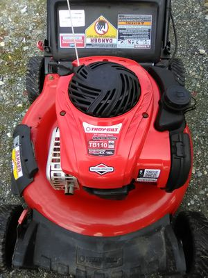 Troy-Bilt lawn mower with the bag for Sale in Greensboro, NC