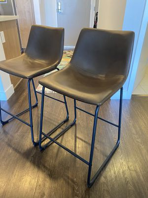 "Leather Barstools 24"" (pair of 2) for Sale in Los Angeles, CA"