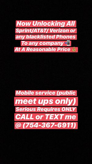 Unlocking all Sprint/AT&T/Verizon iPhone 📲 for Sale in Lauderdale Lakes, FL
