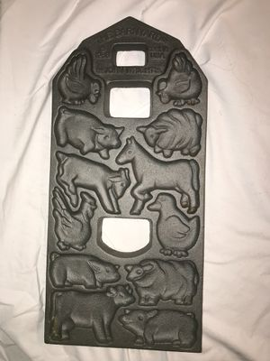 Cast Iron Farm Animal Cake Mold - 2-sides for Sale in Newport Beach, CA