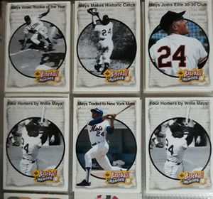 Willie Mays baseball Heroes cards for Sale in West Valley City, UT
