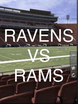 Baltimore Ravens VS LA RAMS FIELD LEVEL ROW 10 - 4 TICKETS for Sale in Los Angeles, CA