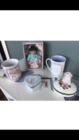 Precious Moment Figurine and Cup for Sale in Shelton, CT