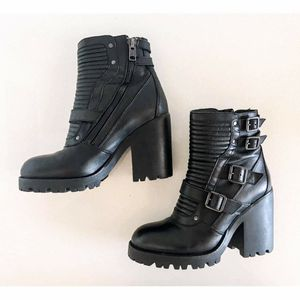 ASH Leather Buckle Biker Moto Boots - Women - SZ 40 US 9.5 - (Lake Margaret Dr & S Bumby Ave) for Sale in Orlando, FL