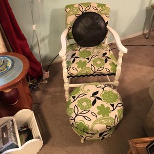 Antique chair and matching ottoman for Sale in Bel Aire, KS