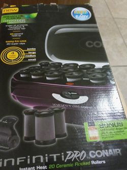 $20 Brand New In Box Never Used! Com air X. -Prp With. 20 Ceramic. Rollers..In 4 different Sizes Of Rollers For Tight Small. Curls Or big bouncy Curls for Sale in Palm Harbor,  FL