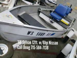 1966 Sylvan 12ft w/6hp Nissan for Sale in Shawano, WI