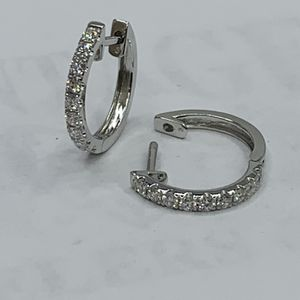 Hoops earrings 18k white vs diamonds for Sale in San Ramon, CA
