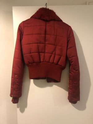 Super cute red Marciano jacket with some leather for Sale in Dallas, TX