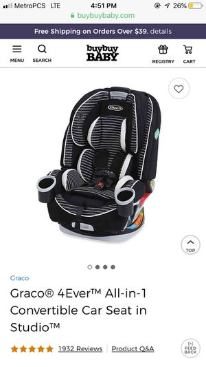 4 in 1 Greco convertible car seat for Sale in Prosser, WA