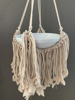 Macrame Plant Hanging for Wide Pot for Sale in San Marcos, CA