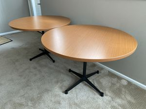 Pair of Herman Miller Round Conference / Dining Tables for Sale in Kirkland, WA