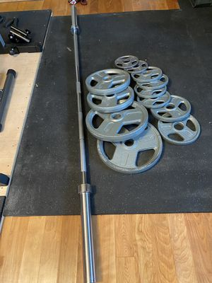 New 210 LB Olympic weight set for Sale in Alameda, CA
