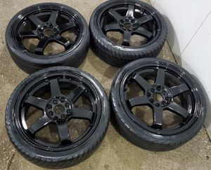 4 17 in 4x100 4x114.3 wheels rims and tires for Sale in Germantown, MD