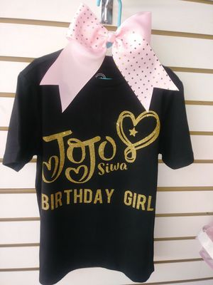 JoJo Siwa Bday Shirt And Bow 15 For Sale In McAllen TX