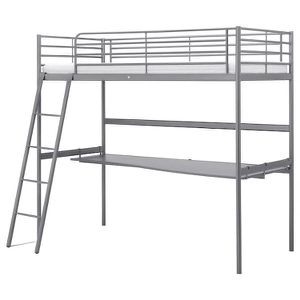 Metal twin loft bed w/ desk for Sale in Queens, NY