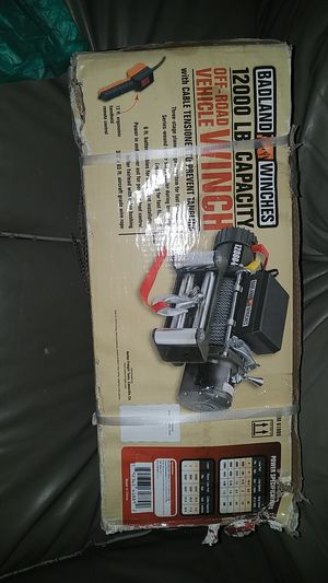 Badland 12000lbs winch brand new unopened box for Sale in Las Vegas, NV