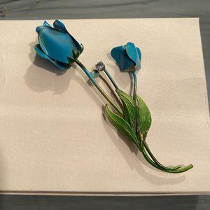 Vintage Blue Rose Brooch for Sale in Fairfax, VA