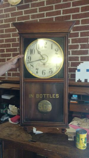 Genuine Antique Coca-Cola Clock has trade mark on it. for Sale in Forest City, NC