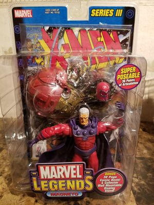 MARVEL LEGENDS SERIES 3 MAGNETO ACTION FIGURE TOY BIZ with Comic Book for Sale in Florissant, MO