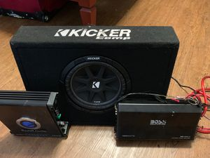 10 Kicker competition with pro box w/Duel amps for Sale in Lancaster, TX