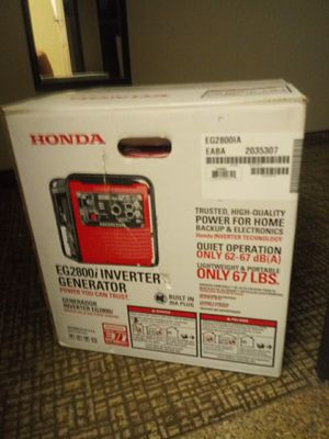 Honda eg2800i. Inverter generator for Sale in Fontana, CA