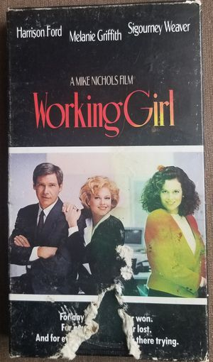 Working Girl vhs movie stars Sigourney Weaver for Sale in Three Rivers, MI