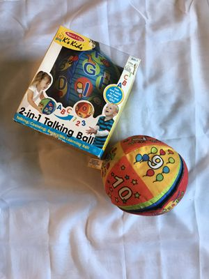 Kids 2 in 1 talking ball for Sale in Clifton Heights, PA