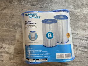 TYPE B Universal Filter Cartridge 2-Pack Summer Waves Swimming Pool Replacement for Sale in Fort Collins, CO