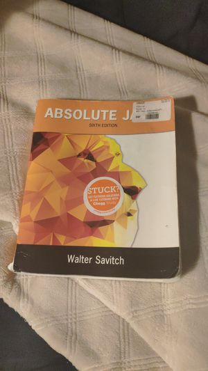 Absolute Java 6th ISBN: 0134041674 for Sale in Shoreline, WA