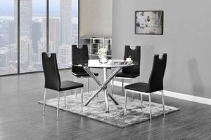5 PCS Noland modern dining table set, available in 3 colors $429.00! Super sale! Limited time offer! In stock! Free delivery 🚚 for Sale in Ontario, CA