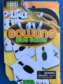 Brand new Bowling Dice Game with travel tin for Sale in Fort Lauderdale,  FL