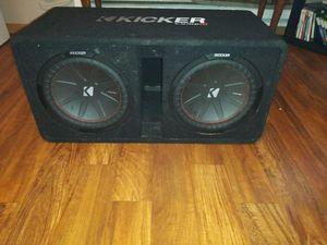 Kicker CompR 40DCWR122 & KICKER CXA.1 for Sale in Davenport, IA