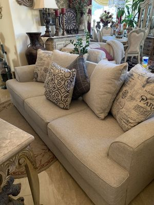 Grey Couch with Accent Pillows for Sale in Temecula, CA