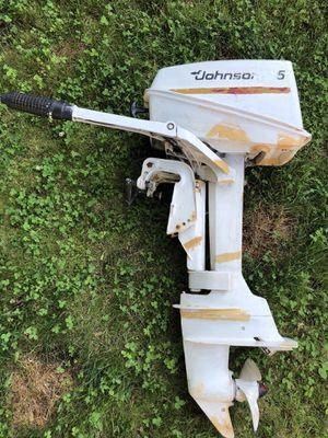 Johnson 5hp outboard motor. for Sale in Maynard, MA