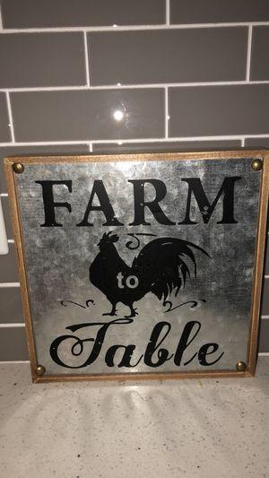 Farm to Table rustic kitchen decor for Sale in Nashville, TN