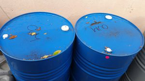 55 gallon metal barrel $15 each no chemical for Sale in Rancho Cucamonga, CA