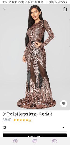 Fashion Nova Rose Gold OnThe Red Carpet Dress for Sale in Norfolk, VA